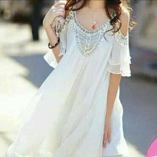 超美超貴氣-露肩顯瘦洋裝