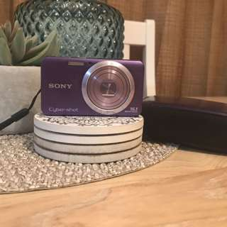 Purple Sony Camera