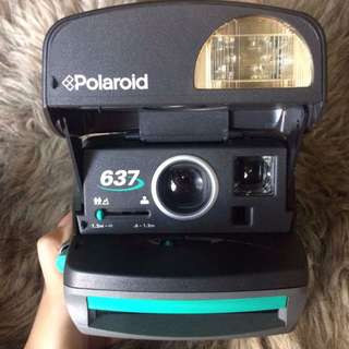 RARE Vintage Teal Polaroid Camera