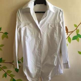 White Boyfriend Shirt
