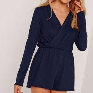 Wrap Front Crepe Playsuit