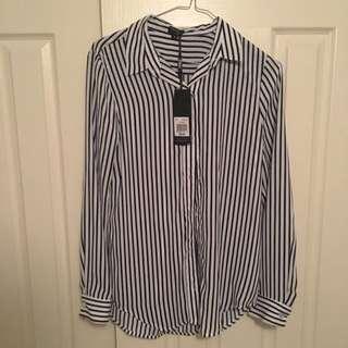 BNWT Size 6 Tokito Pin Stripe Blouse