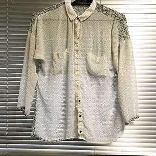 Zara Sheer Chiffon Blouse - Medium 10