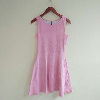 COTTON ON PINK CHECKERED DRESS