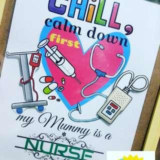 A4 Creative/Funny Velcro Poster (Nurse)