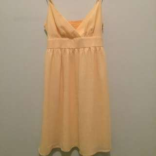 yellow dress portman