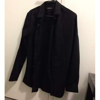 Connor Black Shirt Size Small Slit Fit