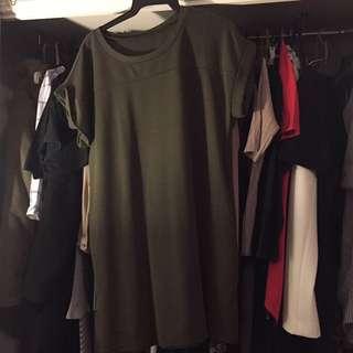 ASOS Military Green Short Dress