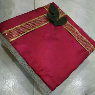 5 Dulang Hantaran Wine Red Gold