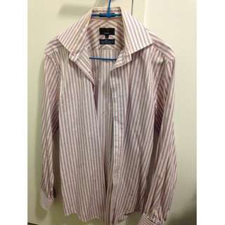 Oxford Strip Business Shirt Size Small Slit Fit