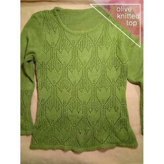 olive knitted top