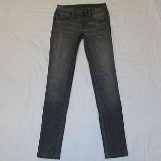 Genetic Denim Charcoal Grey Straight-leg Jeans Size 24