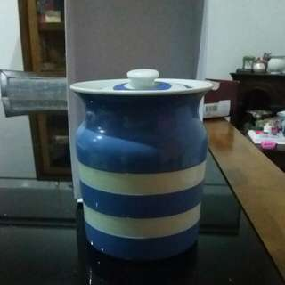 Cornishware Jar Vintage. T. G Green