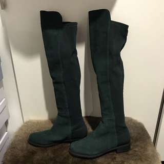 SW 5050 Style Green Boots Size 37