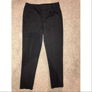 Ankle-Grazer Mid Waist Work Pants