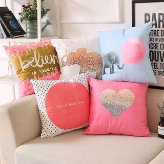 Quotes / Tumblr Throw Pillow Cushions Wordings Hearts Designed Printed