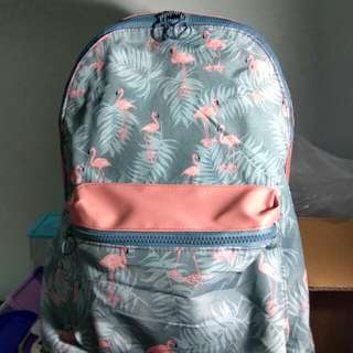 Flamingo Canvas Water Resistant Backpack