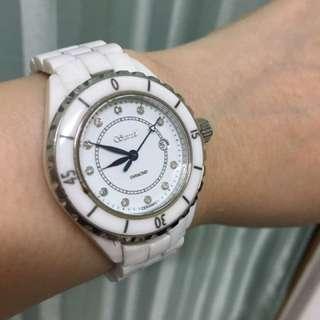 詩丹麗真鑽陶瓷錶