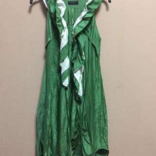 Dress hijau rempel