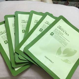 TonyMoly Green Tea Mask 5片