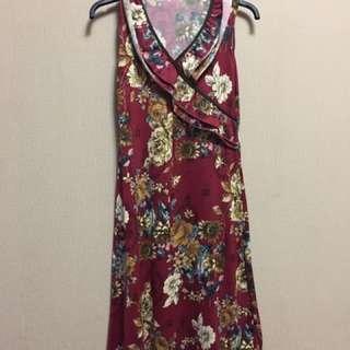 dress flower marun