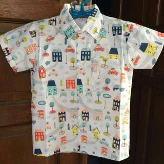 kemeja anak cowo katun 1-2 tahun
