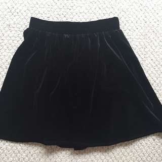 Small Black Velvet Garage Skirt