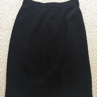Small Knee-Length Black Skirt
