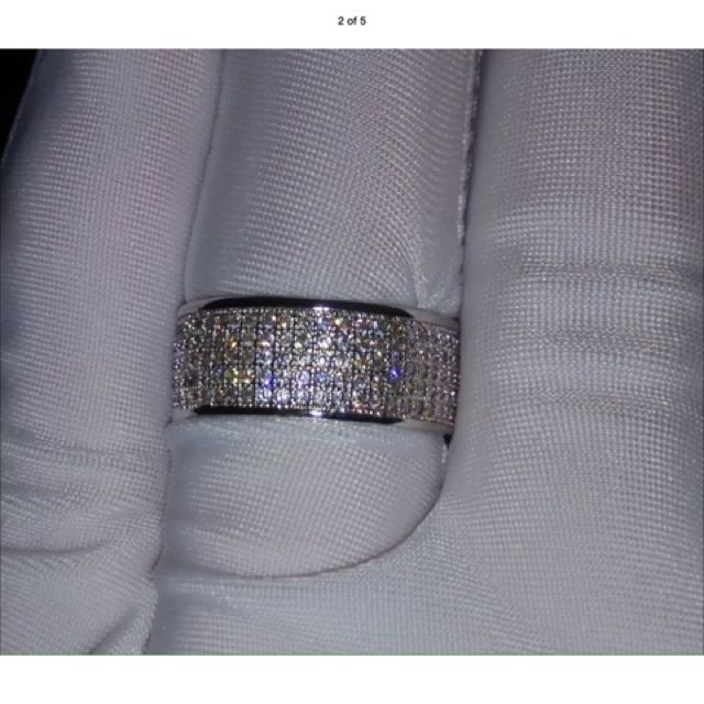 250pcs Simulated Diamond 10ct White Gold Filled Ring R$255