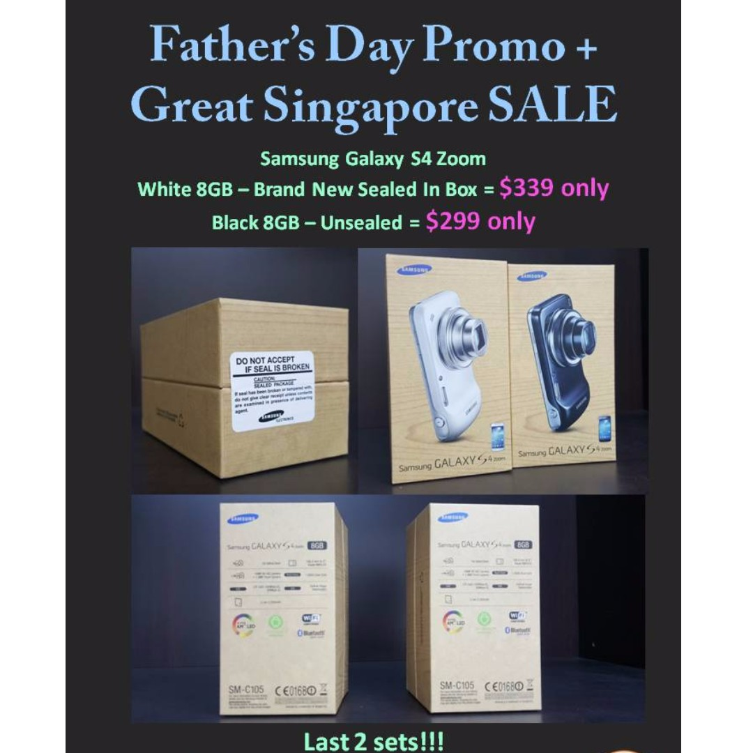 2 Sets Only Fathers Day Cum Gss Brand New Samsung Galaxy S4 Zoom Black Photography On Carousell