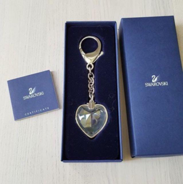 施華洛世奇水晶 立體愛心鑰匙圈