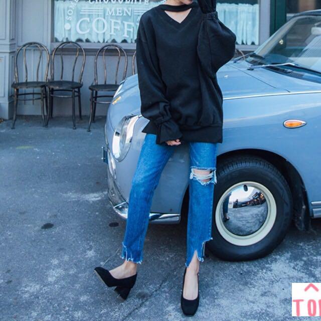 韓國顯瘦男友褲 M號