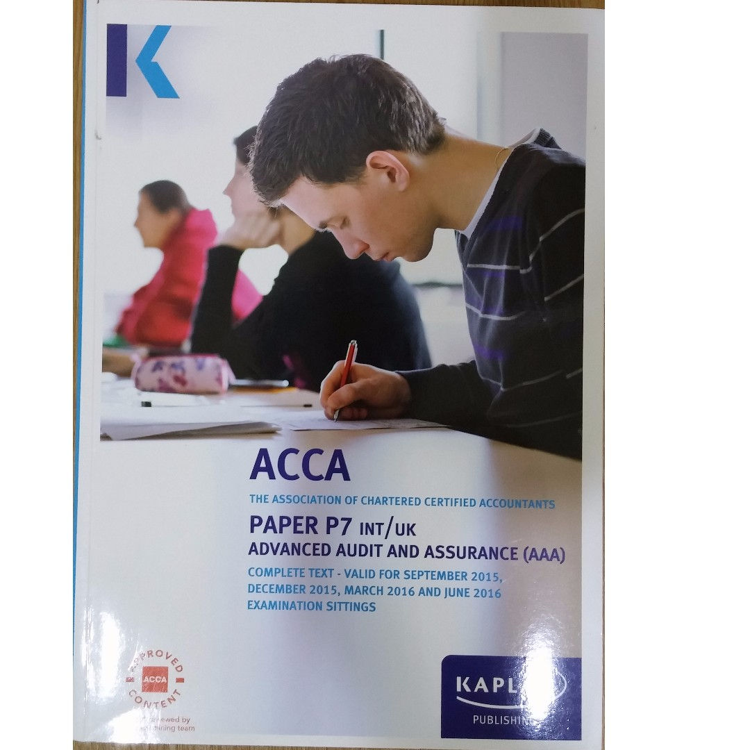 ACCA P7 Advanced Audit and Assurance Complete Text, Books