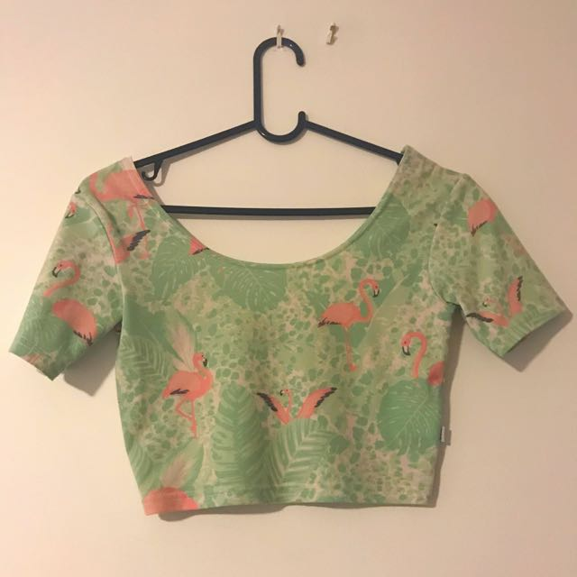 Affends Cropped Flamingo Tee