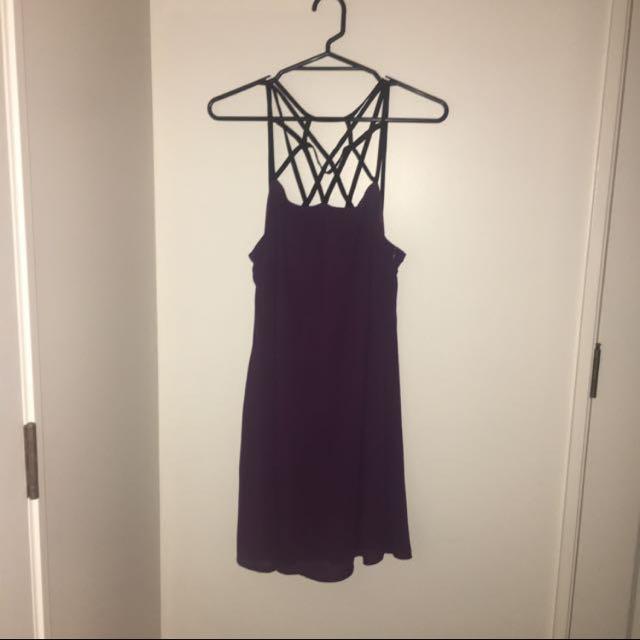 Amerah Caged Slip Chiffon Dress