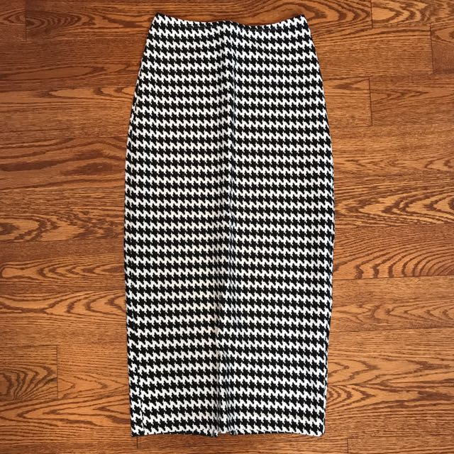 American Apparel Houndstooth Pencil Skirt Size XS