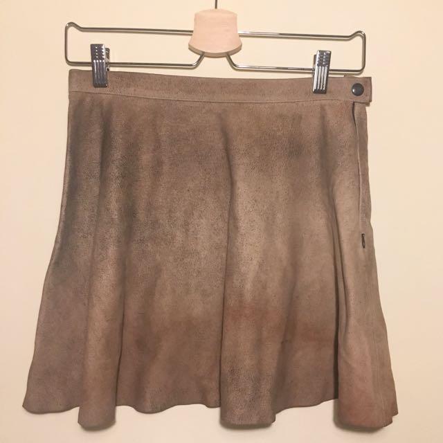 American Apparel Lamb Skin Circle Skirt M