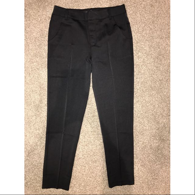 Ankle-Grazer Mid Waist Work Pants