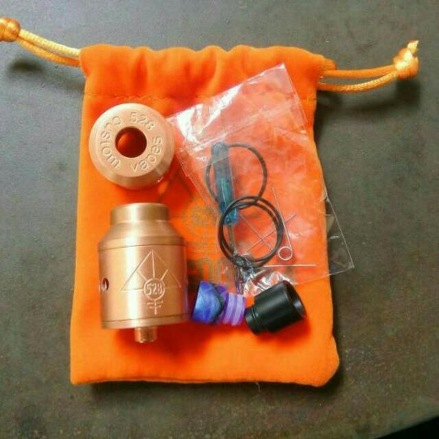 Atomizer Vaporizer Custom Vapes Goon RDA 24mm Clone + Cap + Drip Tip