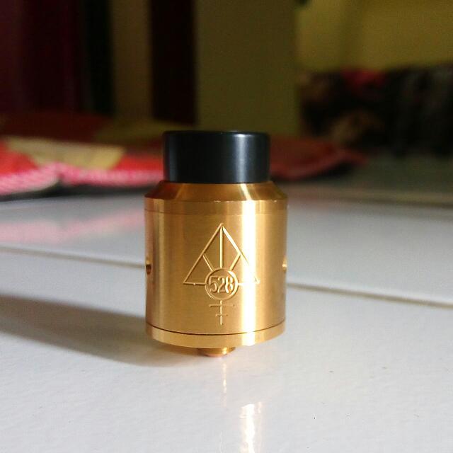 Atomizer Vaporizer Custom Vapes Goon RDA 24mm Clone + Chuff + Drip Tip
