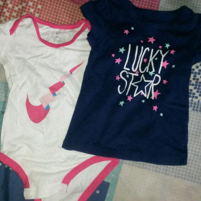 Nike Baby Girl Onesie & Lucky Star Shirt
