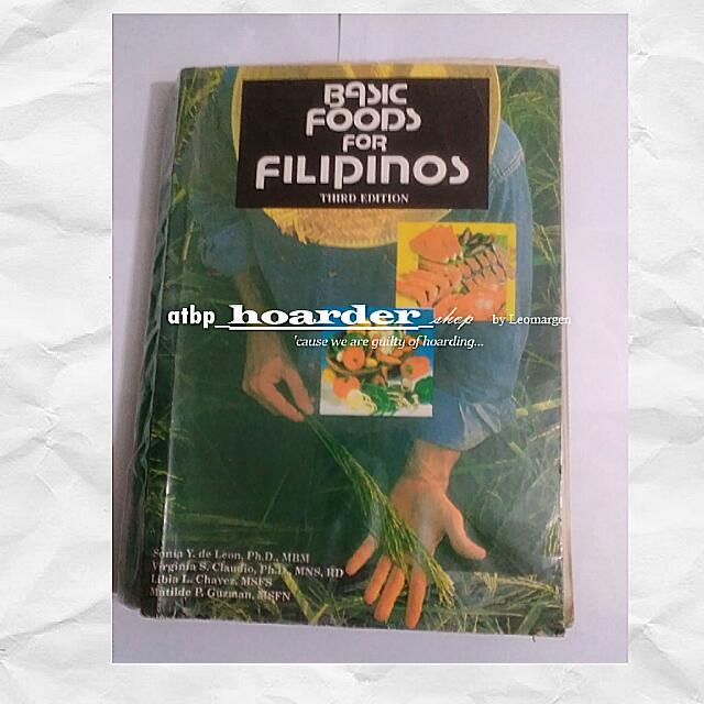 Basic Foods For Filipinos, Food Technology Books