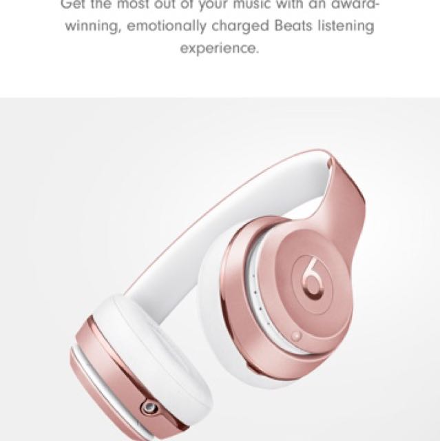 Beat By Dre Headphones RRP $399.99 beats Solo3 Wireless)