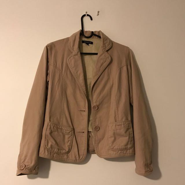 Beige Cotton On Blazer/jacket