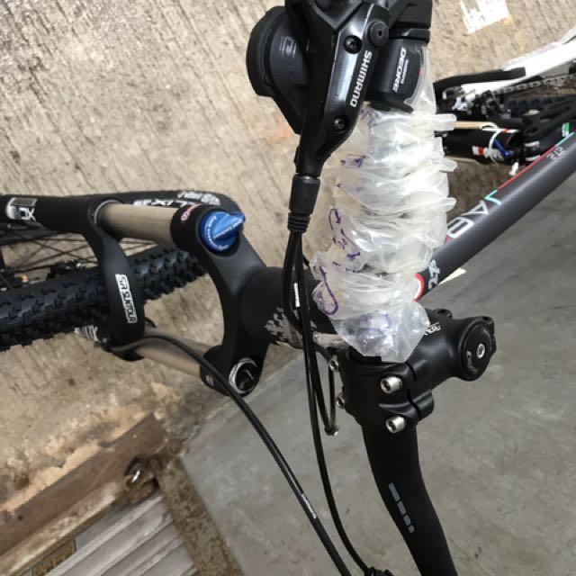 半價全新意大利Bianchi JAB 27.2前後避震鈻合金架登山車