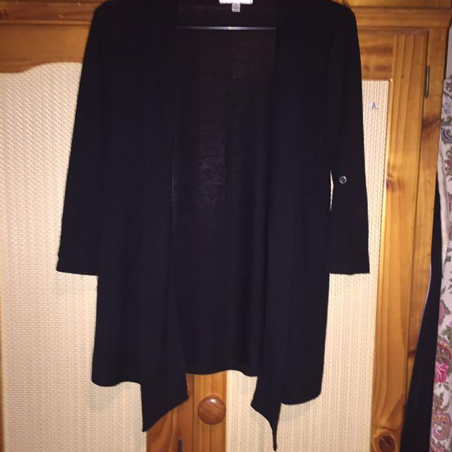 Black Mid Length Sleeve Cardigans
