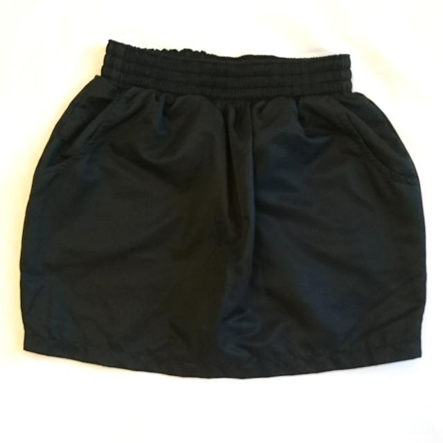 Black Satin-finish American Apparel Mini Skirt