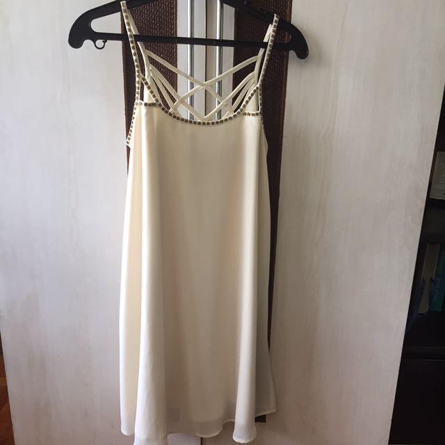 BNWT Forever 21 Cream Dress
