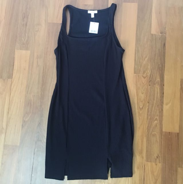 ae09b09627a55 BNWT urban outfitters silence + noise ribbed square-neck bodycon mini dress  in black, Women's Fashion, Clothes, Dresses & Skirts on Carousell