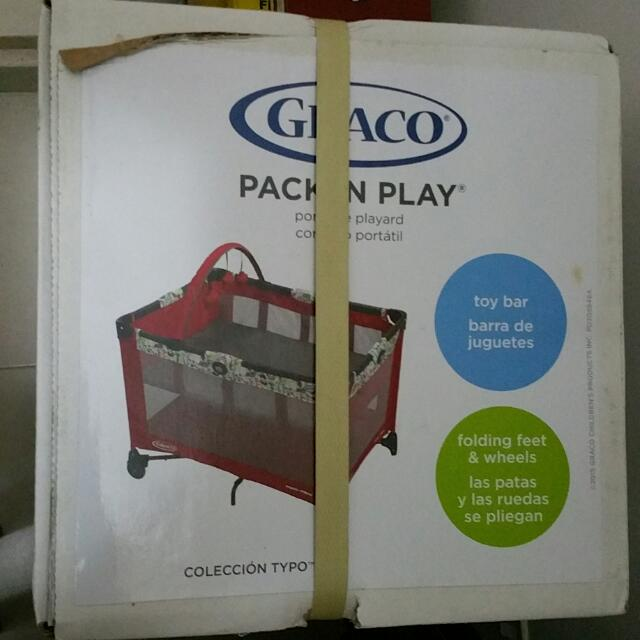 785ea1e768d Brand New Graco Pack N Play Portable Play Yard (Red Playpen   Baby ...